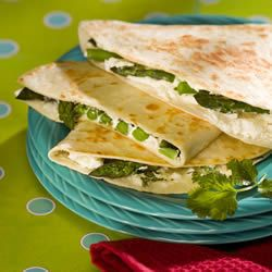 Asparagus and Goat Cheese Quesadillas Allrecipes.com