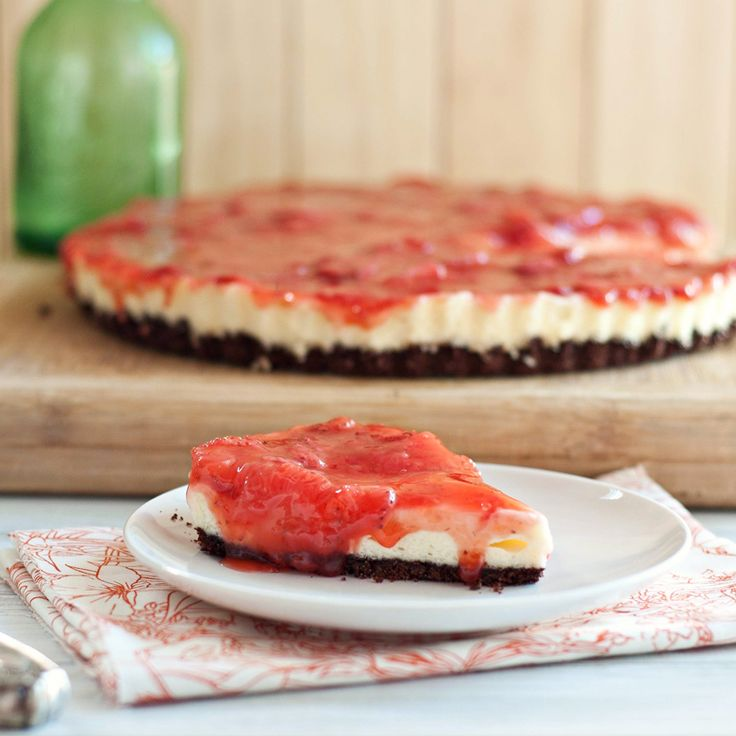 Chocolate Strawberry Cream Cheese Tart & Dealing with New Mom Fears