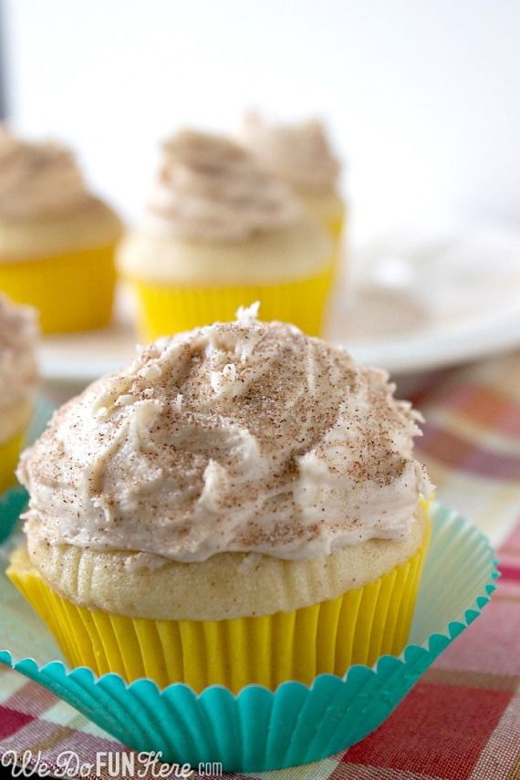snickerdoodle cupcakes. | Cake Chaos. | Pinterest