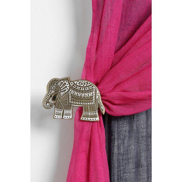 Etched Elephant Curtain Tie-Back | Home Ideas&DIY | Pinterest