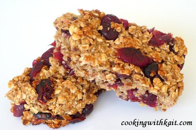 cranberry oat bars | Snacks | Pinterest