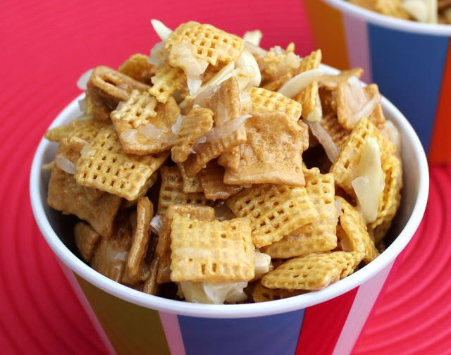 Coconut Chex Mix | sweets | Pinterest