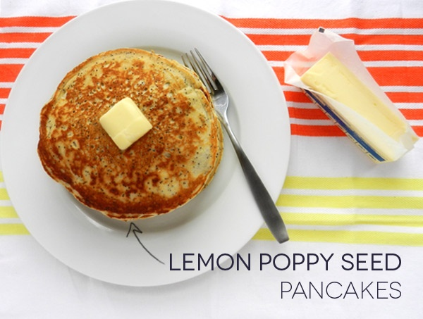 Lemon Poppy Seed Pancakes | Food | Pinterest