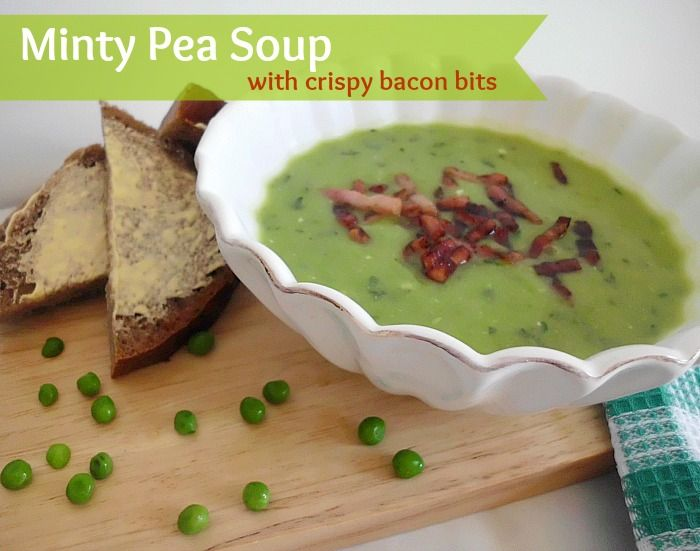 Minty Pea Soup with Crispy Bacon Bits | Easy Recipes and Cooking Tips ...