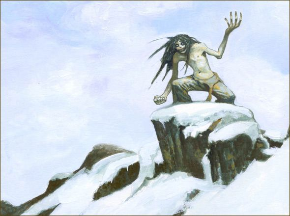 The mahaha, an Inuit demon who kills people by tickling them to death.