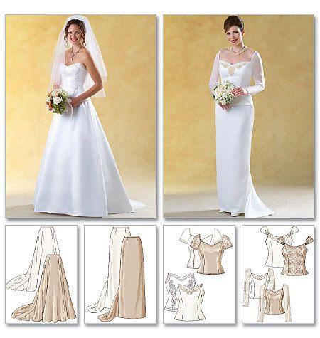 Wedding dress pattern butterick 4131 size 12 14 16 for Butterick wedding dress patterns