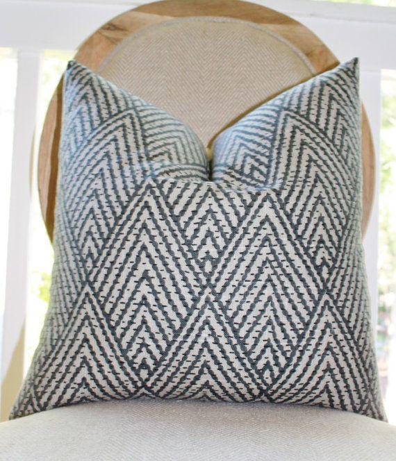 Decorative Designer Pillow - Black Gray Beige Geometric Pillow -Black?