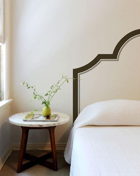 headboard painted on the wall cottage ideas pinterest