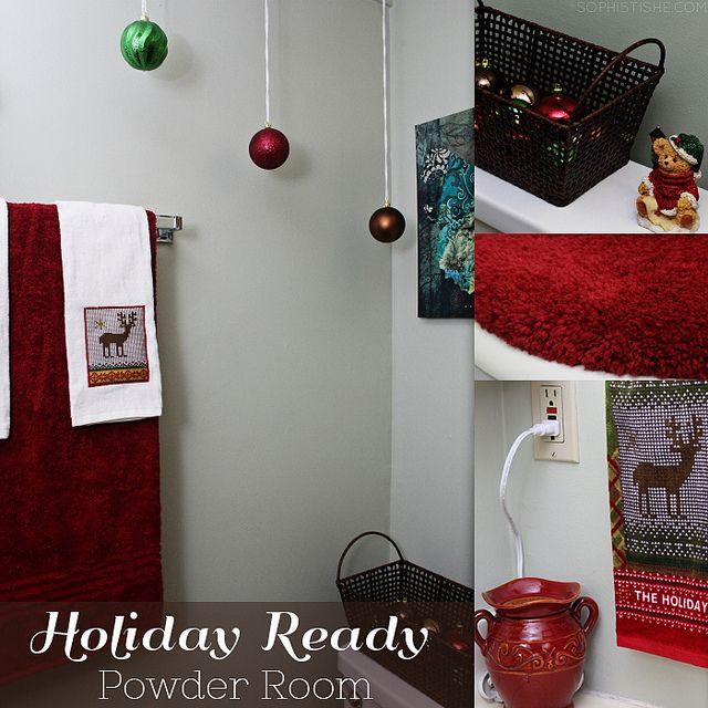 Holiday Ready Powder Room / Sophistishe.com