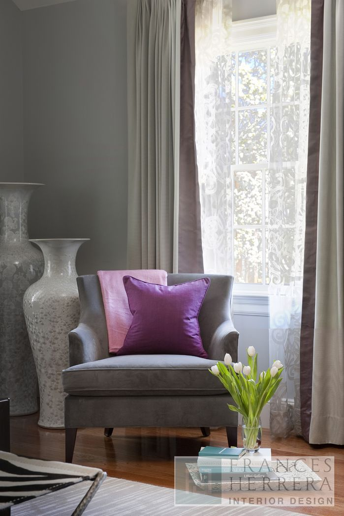 Purple Accent With Gray Living Room Ideas Pinterest