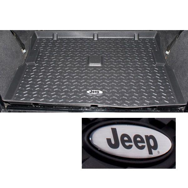 76 yj wrangler all terrain cargo liner w  jeep logo