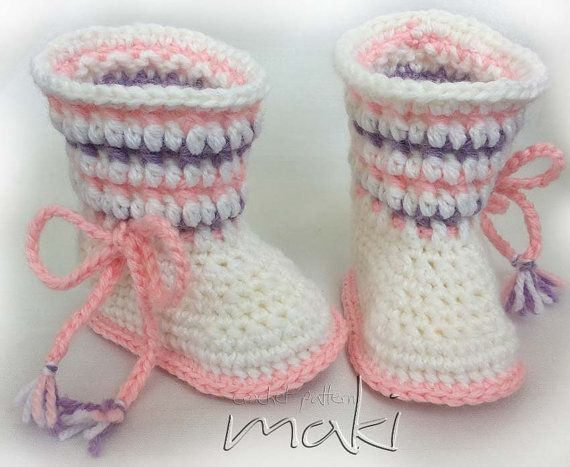 Crochet pattern baby boots Permission to sell ? by MakiCrochet, $4 ...