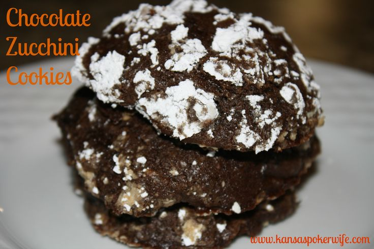 Chocolate Zucchini Cookies | Drop, Bar and Roll Cookies | Pinterest