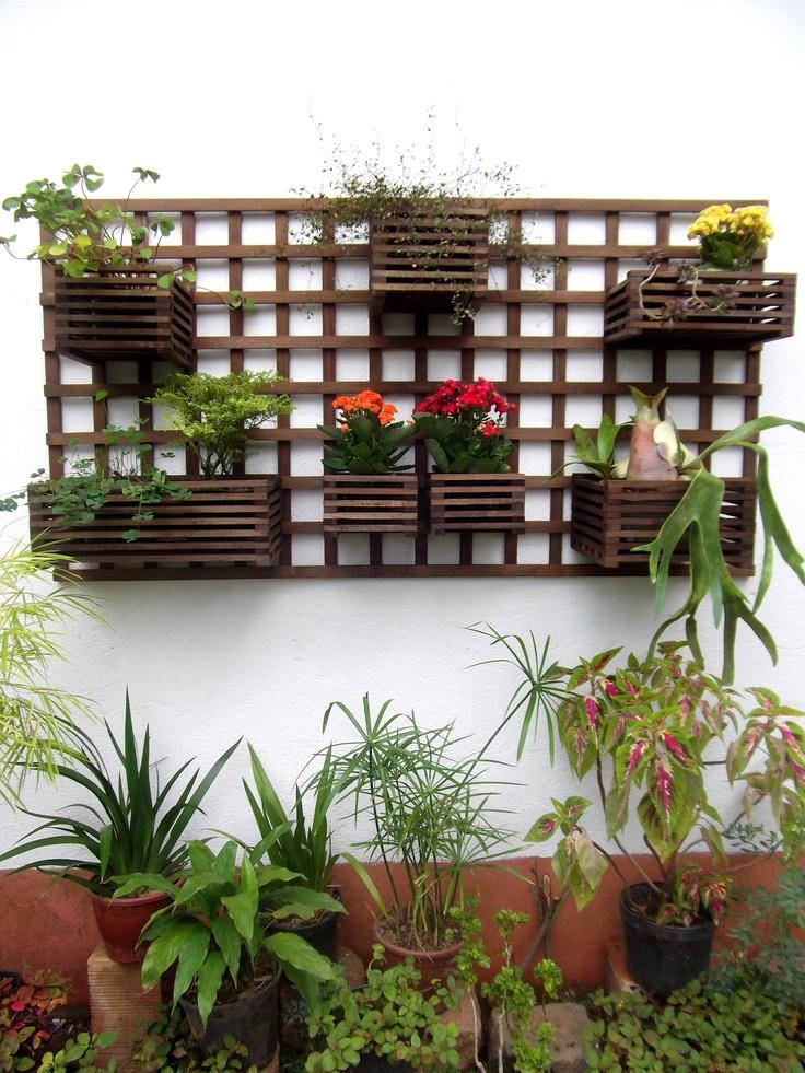 trelica jardim vertical:Jardim Vertical