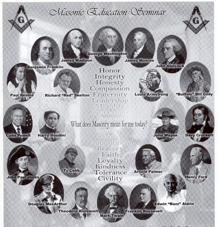 famous freemasons in history