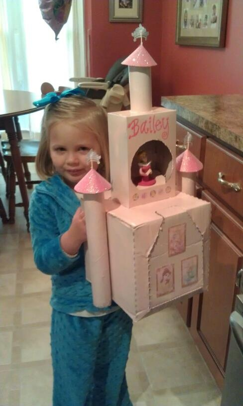 Princess castle Valentine Box