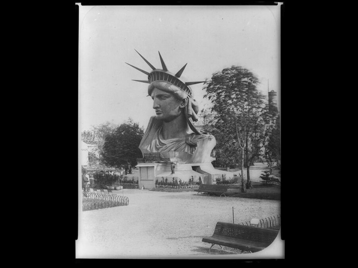 The Statue of Liberty showcased the head and crown to gain public    Statue Of Liberty Head And Crown