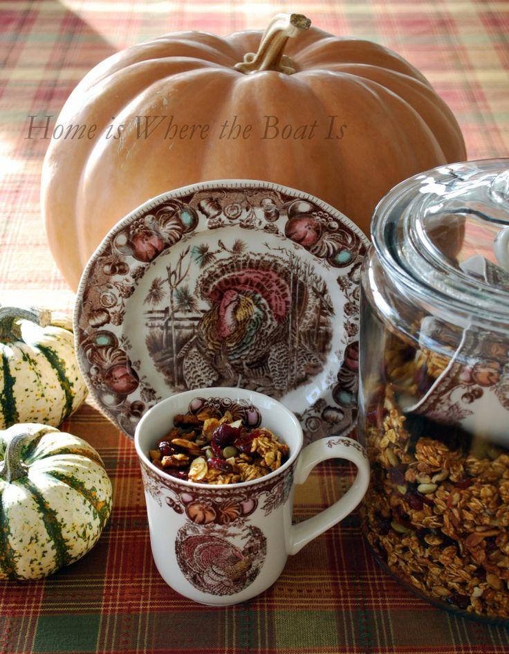 Pumpkin pie granola | Pumpkin madness | Pinterest