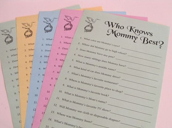 baby shower game who knows mommy best print your own daddy avai