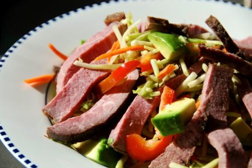 BROCCOLI SLAW ROAST BEEF SALAD | Paleo Porn | Pinterest