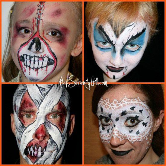 Halloween face painting ideas halloween pinterest for Halloween painting ideas