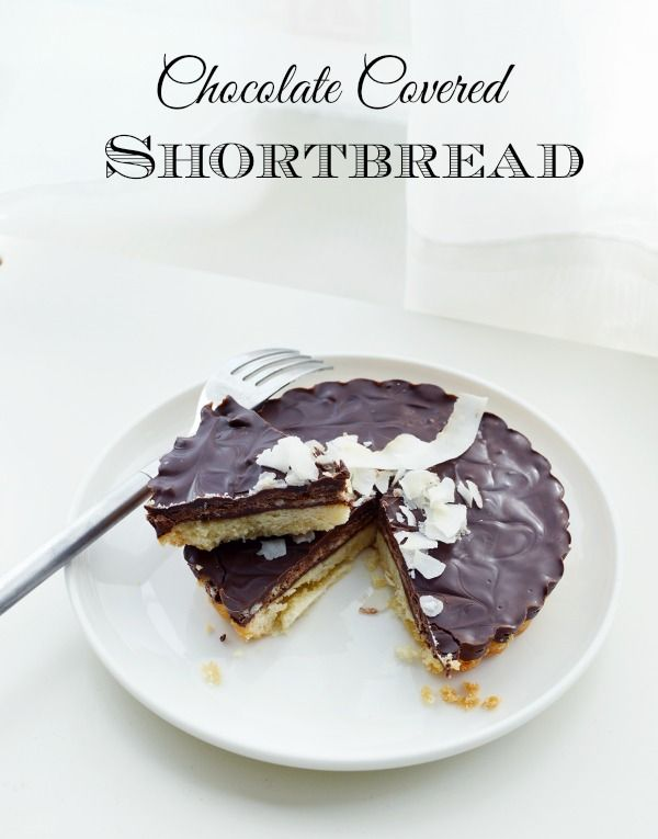 Dark Chocolate Coconut Shortbread Cookies Recipe — Dishmaps