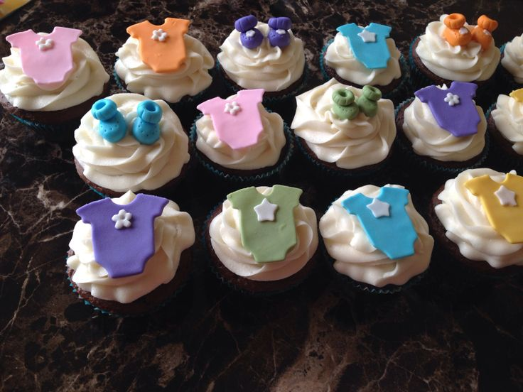 Unisex Baby Shower Cupcakes : Baby shower cupcakes - gender neutral Bridal/ Baby ...