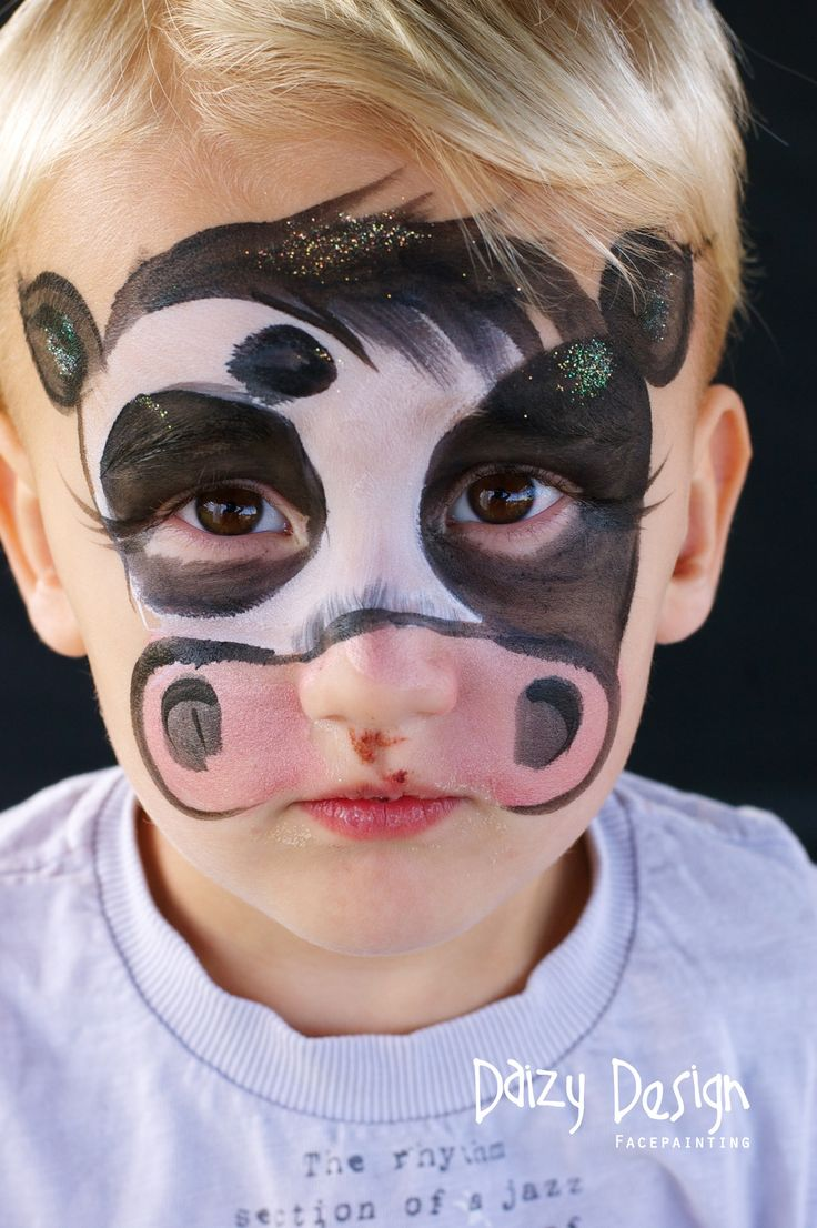 cow by daizy design face painting pinterest. Black Bedroom Furniture Sets. Home Design Ideas
