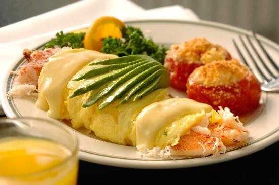 crab omelette | Champagne Brunch | Pinterest