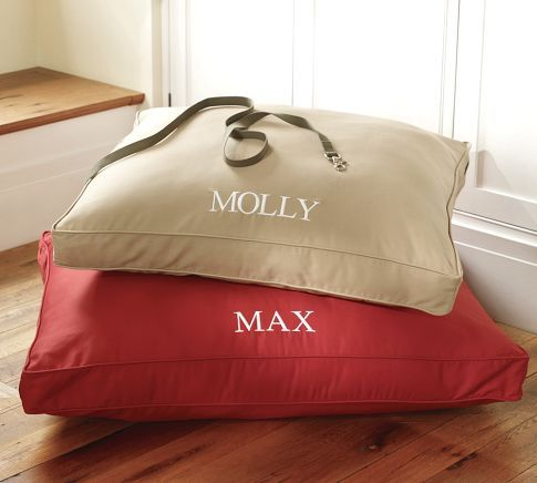 monogrammed dog beds