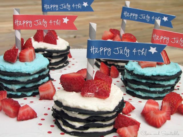 fourth of july ice box cake