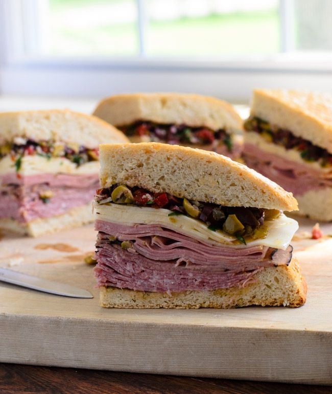 Louisiana Muffuletta Sandwich. A delicious taste of Sicily via NOLA ...