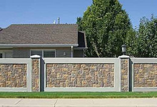Why install a concrete fence design ideas for the house pinterest - Concrete fence models design ...