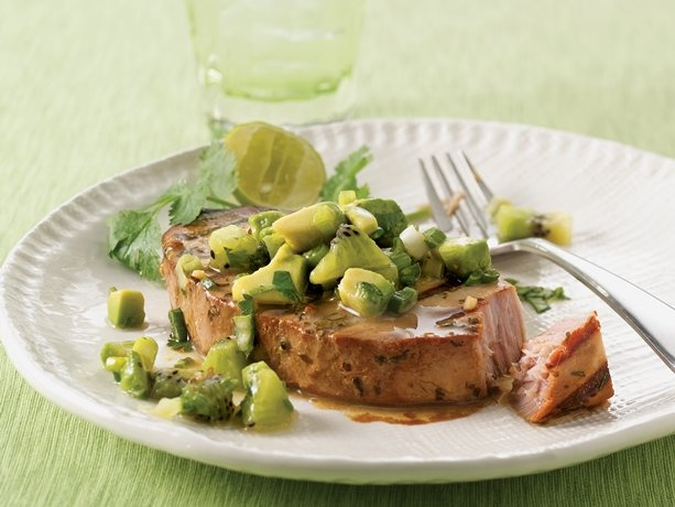 Tuna with Avocado-Kiwi Salsa | Recipe