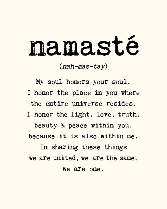 "indians.....must kno the meaning of the most frequent word they use.....because i don't see any type of oneness even if they use ""namaste"" in day to day life...."