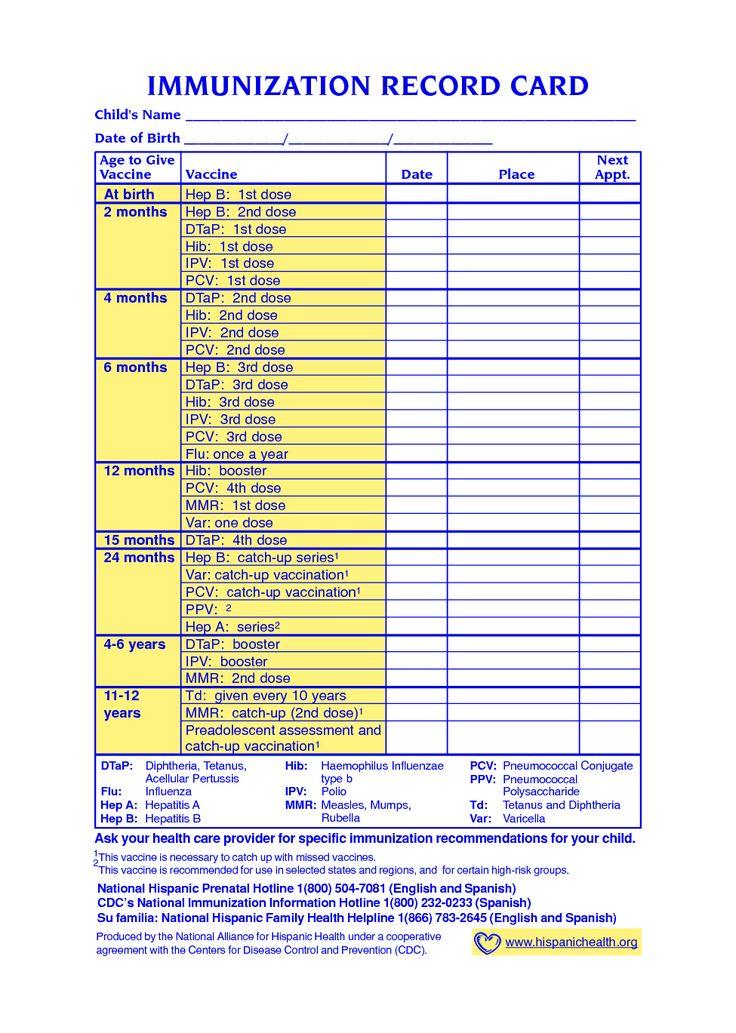 texas vaccination schedule