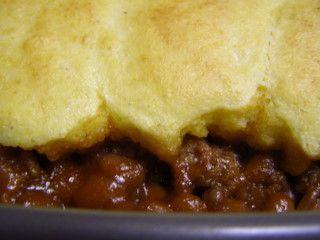 BBQ Beef & Bean Cornbread Casserole   {Food} Freezer Cooking   Pinter ...