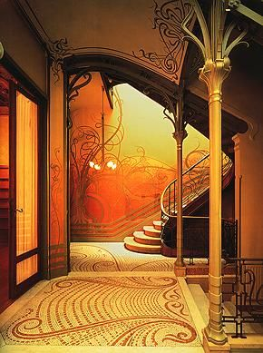 This is stunning...art nouveau interior...
