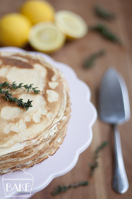 Lemon and Mascarpone Crepe Cake | Sweets/Desserts | Pinterest