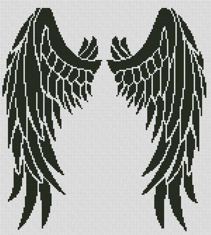 Вышивка крылья ангела 45