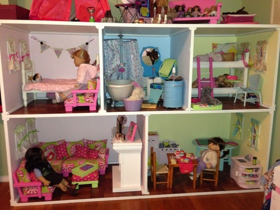 American Girl Doll House Kassidys Ag Dollhouse Pinterest