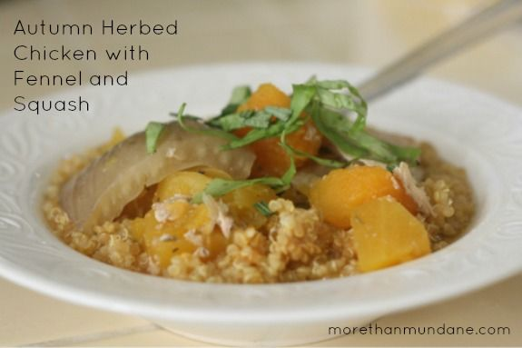 Slow Cooker Autumn Herbed Chicken with Fennel and Squash. Perfect Fall ...