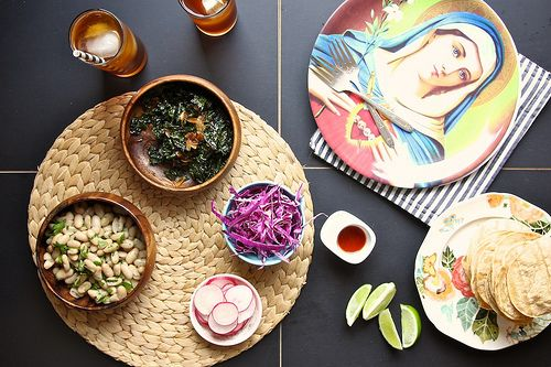 Kale coconut and white bean tostadas | Mat | Pinterest