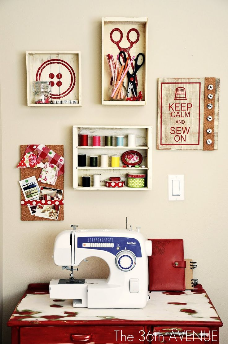 inspiration for the sewing room