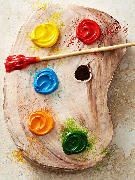 Artists Palette Cake - im so making this for allisons graduati...