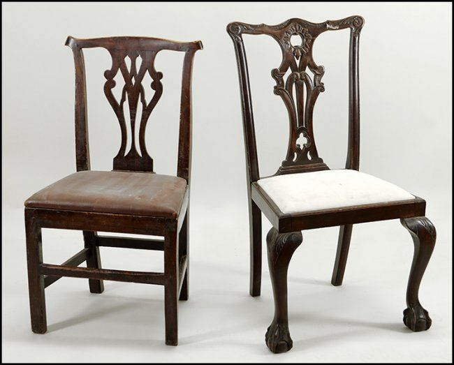 Chippendale side chair - Chippendale Style Mahogany Side Chair Lot 131 1108 Chippendale