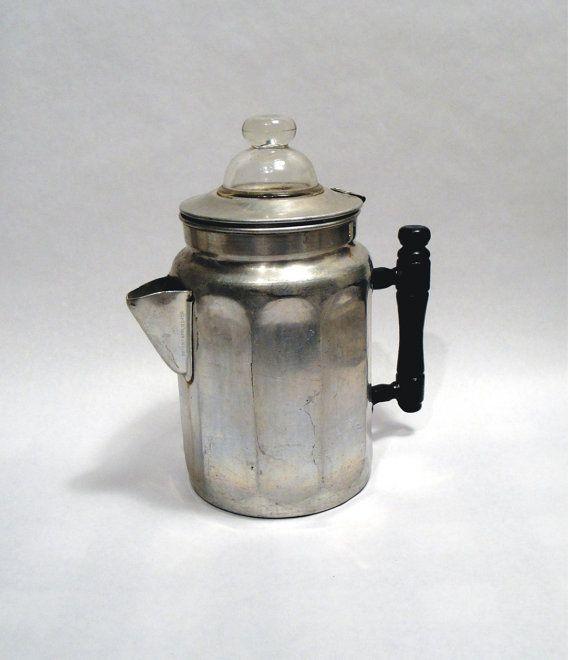 Antique Percolator Coffee Maker : 1912 Antique VTG Stove Top Coffee Pot Maker Percolator