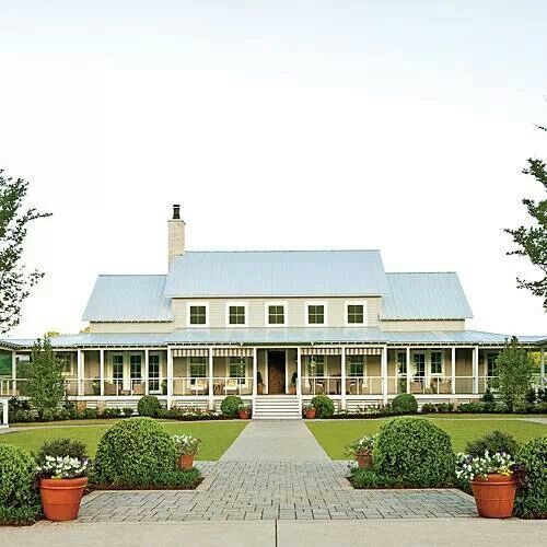 Southern Farmhouse Beautiful Homes Pinterest
