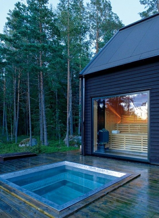 In Ground Hot Tub Outdoor Living And Working Pinterest