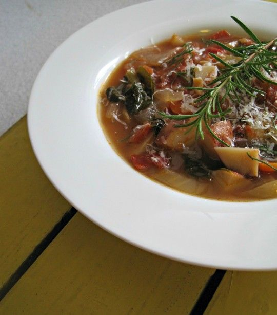 Potato and Kale Soup with Rosemary and Tomatoes - Rosemarried